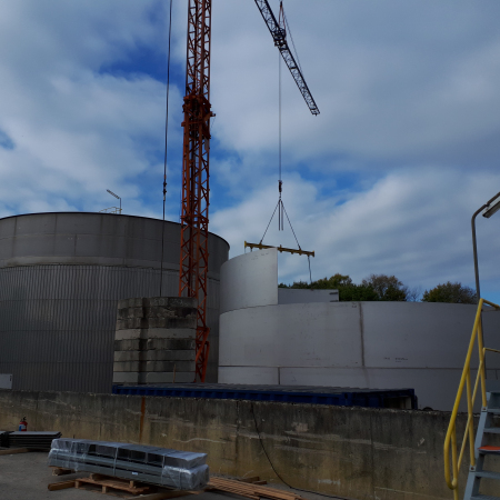 site erected tanks